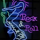 TANBANNER NEON sign Rock Roll Music bad boy N108B Purple