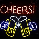 Tanbanner Cheer Beer Cup Neon Sigh Light N249