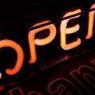 TANBANNER OPEN Glass Neon Sign Light D001Pink