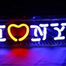 TANBANNER I Love NY Glass Games Neon Sign Light D001i