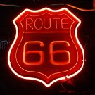 TANBANNER 3D 66 ROUTE Glass Neon Sign Light D026A