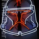 Silver Star wars clone Helmet Neon Sign Light N284B Red eye