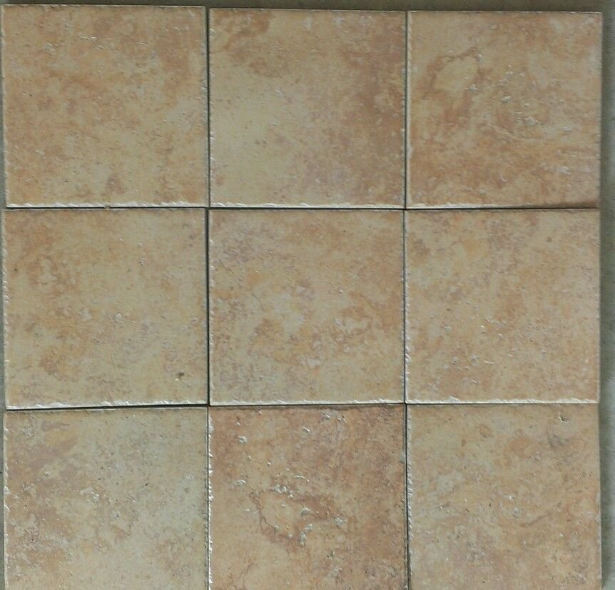 """Roman Stone Porcelain Tile 6""""X6"""" Salmon Color Made in ..."""