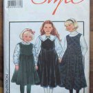 Style Pattern 1434 Child's Pinafore Blouses Size 6X NIP