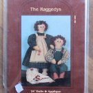 "The Raggedys 24"" Dolls and Applique Pattern My Sister & I 1988 NIP"