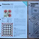 POINSETTIA Spinning Spools Quilt Pattern w/Template