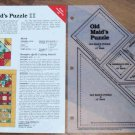 OLD MAID'S PUZZLE Spinning Spools Quilt Pattern w/Template