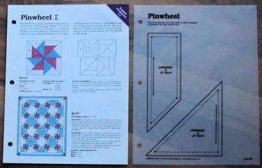 PINWHEEL Spinning Spools Quilt Pattern w/Template