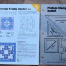 POSTAGE STAMP BASKET Spinning Spools Quilt Pattern w/Template