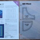 MILL WHEEL Spinning Spools Quilt Pattern w/Template