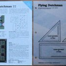 FLYING DUTCHMAN Spinning Spools Quilt Pattern w/Template