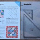 SEASHELLS Spinning Spools Quilt Pattern w/Template