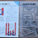 ANCHORS AWEIGH Spinning Spools Quilt Pattern w/Template
