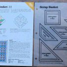 SCRAP BASKET Spinning Spools Quilt Pattern w/Template