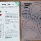 MICHIGAN CHERRY QUILT Spinning Spools Quilt Pattern w/Template