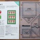 BLOOMERS Spinning Spools Quilt Pattern w/Template