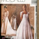 McCall's 8559 Wedding Dress Pattern Size C 10-14 NIP