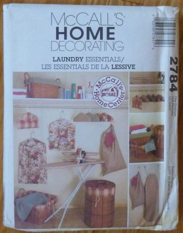 McCall's Pattern Home Decorating 2784 Laundry Essentials NIP