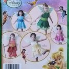 Simplicity Disney Fairies Costume Pattern 2559 Size A 1/2 to 4 MIP