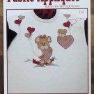 Sewing Fabric Iron-On Applique Valentine Bears Kit NIP