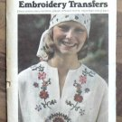 Vintage Butterick Embroidery Transfer Pattern 4106 Flowers MIP