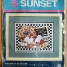Cross Stitch X-Stitch Sunset Dimensions Welcome to My Kitchen Kit NIP