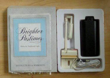 Brighter Pastimes Hobby & Needlecraft Light Battery Oper New