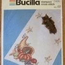 Bucilla Stamped Cross-Stitch Autumn Harvest Runner Kit NIP