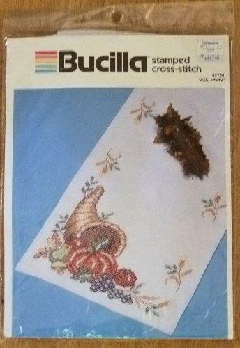 Bucilla Stamped Cross-Stitch Autumn Harvest Runner Kit NIP