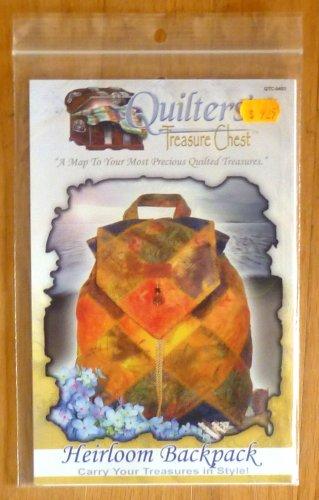Quilters' Treasure Chest Heirloom Backpack Pattern NIP
