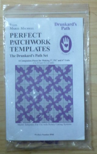"Drunkard's Path Marti Michell Perfect Patchwork Templates #8960 3-4"" Units"