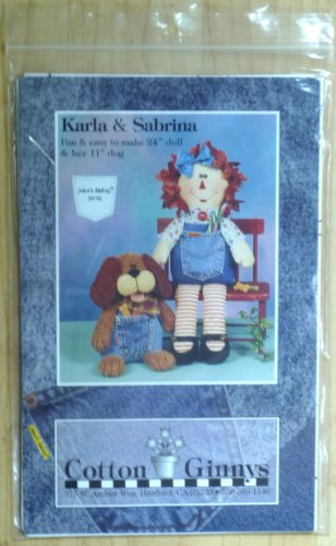 "Jean'e Babies Series Craft Pattern Karla & Sabrina 24"" Doll and 11"" Dog"