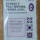 Marti Michell Perfect Patchwork Templates 3-Inch Square Basic Set A