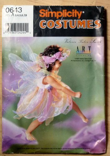 Simplicity #0643 Costume Pattern Fairy Girl Sz 3-8 Valerie Tabor-Smith Size 3-8