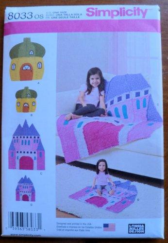 Simplicity Pattern 8033 Rag Quilts Acorn House Castle Child & Dolls Sizes