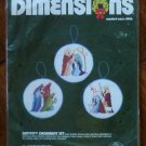 Dimensions Cross Stitch X-Stitch Kit Nativity Ornament Set 8322 NIP 1984