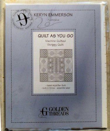 Quilt as you go Machine Quilted Strippy Quilt Pattern Keryn Emmerson Australia