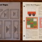 LITTLE RED WAGON Spinning Spools Quilt Pattern w/Template