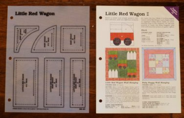 LITTLE TRED WAGON Spinning Spools Quilt Pattern w/Template