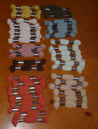 Vintage DMC Laine Colbert Pour Tapisserie Virgin Wool 43 Skeins Mixed Colors