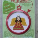 Child's Bucilla My 1st Stitch Kit Learn to Cross Stitch Ornament with Frame NIP