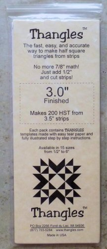 THANGLES  Templates Make 200 Half Strip Triangles 3.0 Finished NIP
