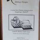Longaberger Cake/Pie Basket Cloth Cover One and Two Handles Hilltop Designs NIP