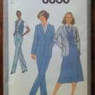 Vintage Simplicity Pattern 8868 Misses and Tall Skirt, Pants, Vest, Jacket size 12 Uncut