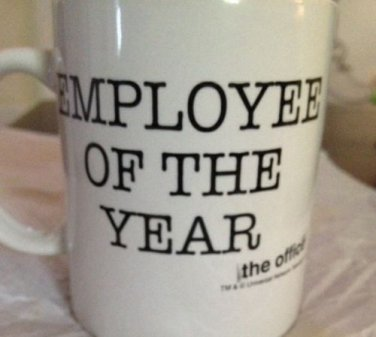 Employee Of The Year THe OFFICE Coffee Mug Cup TV Show Universal Network