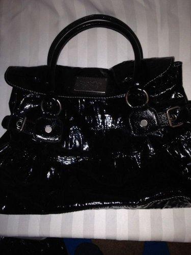 Simply Vera Wang Black Cosette Crocodile Hobo Handbag