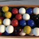 60 vintage chinese checkers marbles
