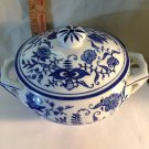 China Blue fine Porcelain Tureen exclusively for Seymour Mann""