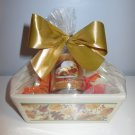 """Warm Apple Pie"" Mini Loaf Pan Gift Basket - Leaves Design"