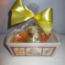 """Lemon Pound Cake"" Mini Loaf Pan Gift Basket - Floral Design"